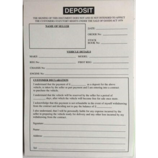 Vehicle Deposit Pad
