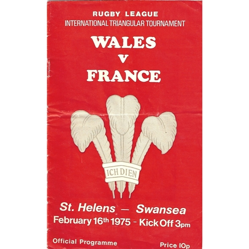 France Rugby League Programmes
