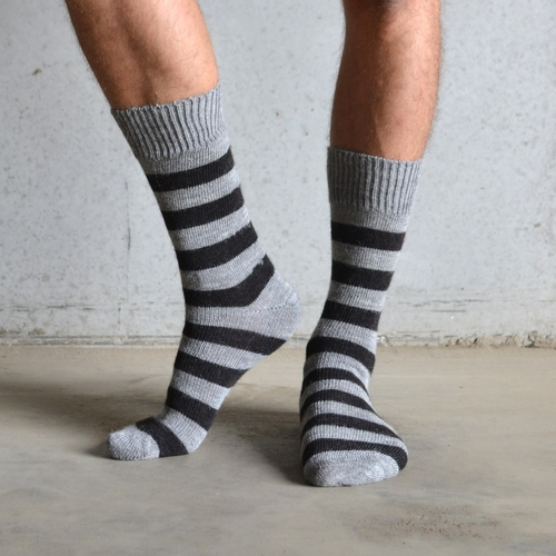 Alpaca Everyday Sock Dark Stripe