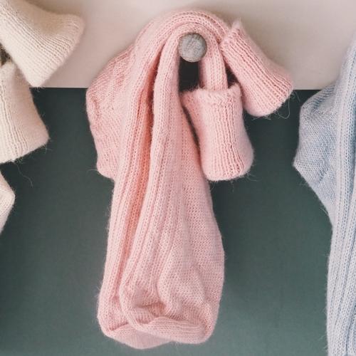 Alpaca Bed Socks Pink