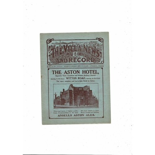 1925/26 Aston Villa v Newcastle United + Liverpool Reserves Football Programme