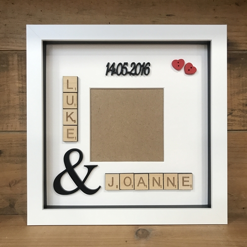 Scrabble names photo frame
