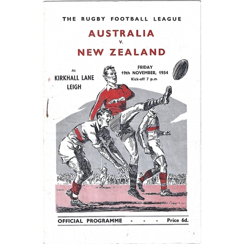 1954 Australia v New Zealand Rugby League Programme
