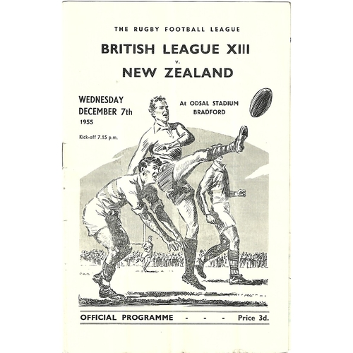1955 British League XIII v New Zealand Rugby League Programme