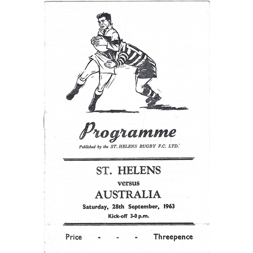 St. Helens Home Rugby League Programmes
