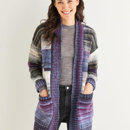 Aran Longline Jacket Pattern 10138