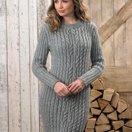 Aran Dress & Jumper Pattern JB625