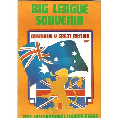 1977 Australia v Great Britain International Championship Rugby League Programme