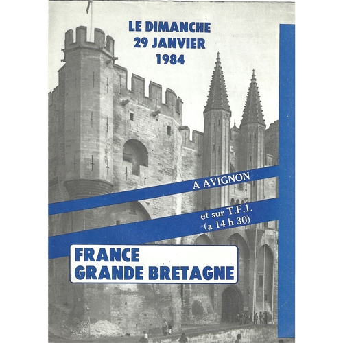 1984 France v Great Britain Rugby League Programme