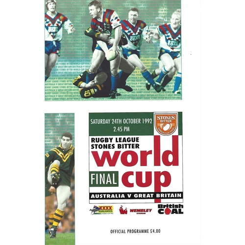 World Cup/Championship Rugby League Programmes