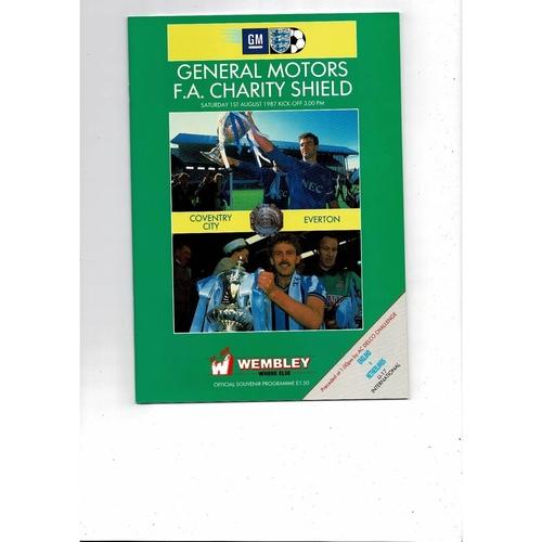 1987 Coventry City v Everton Charity Shield Football Programme