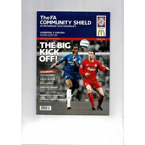 2006 Liverpool v Chelsea Charity Shield Football Programme
