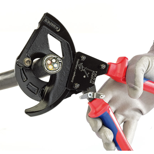 Knipex 95 32 315A 315mm Ratchet Action Cable Cutter For SWA Cable - 82575