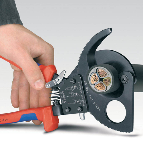 Knipex 95 31 280 280mm Ratchet Action Cable Cutter - Draper - 18557