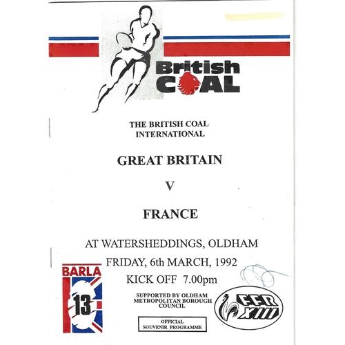 Great Britain Amateur Rugby League Programmes