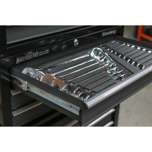 Tool Tray with Combination Spanner Set 19pc - Metric - Sealey - S01123