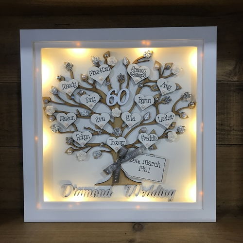 "XL ""Floral Wedding Anniversary "" frame"