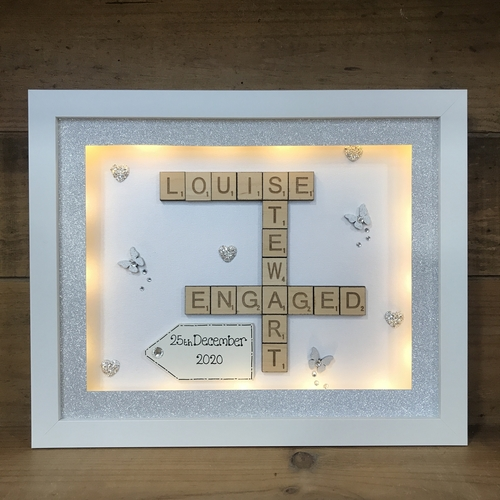 Engaged scrabble word art