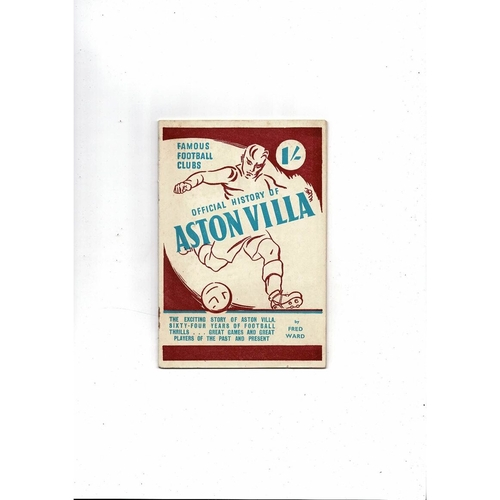 Official History of Aston Villa Football Booklet 1948/49