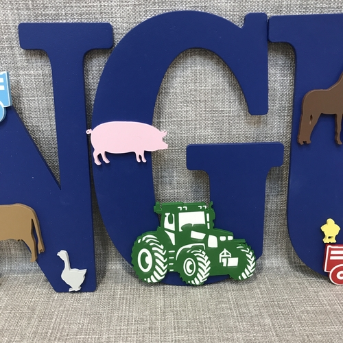 FARMYARD ANIMALS / TRACTOR  letters