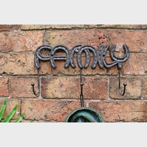Family Rustic Cast Iron Wall Hooks