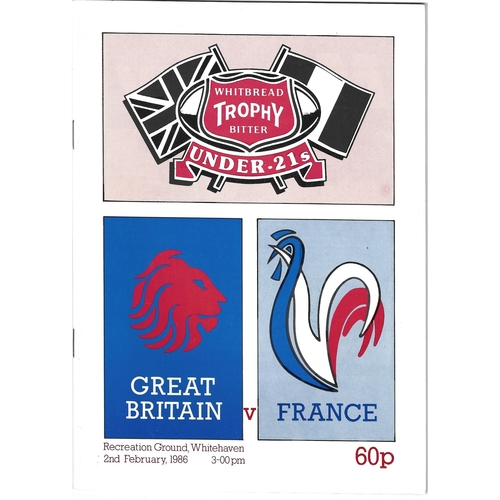 Great Britain Rugby League Programmes