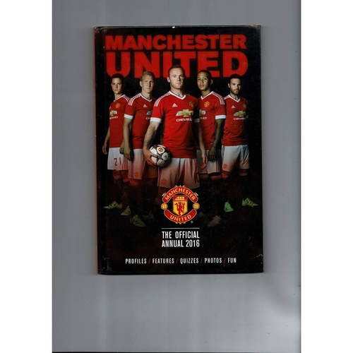 Manchester United Football Annual hardback Book 2016