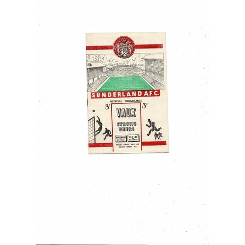 1953/54 Sunderland v Aston Villa Football Programme
