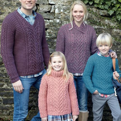 Aran Sweater Pattern 7142