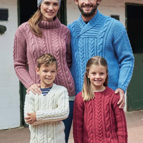 Aran Sweater Pattern 8166