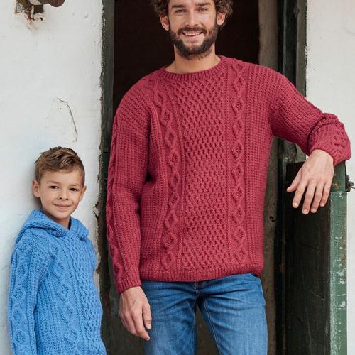 Aran Sweater Pattern 8167