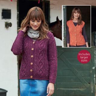 Aran Cardigan & Waistcoat Pattern 8169