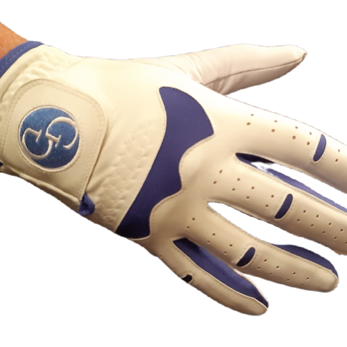 Mens Hybrid Colour Gloves with Embroidered Logo (Right Hand for a Left Handed Golfer)