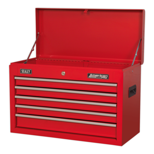 Topchest 5 Drawer with Ball-Bearing Slides - Red - Sealey - AP225