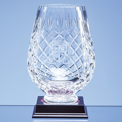 Lead Crystal Panelled Tulip Vase 20cm