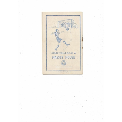 1952/53 Burnley v Sunderland Football Programme