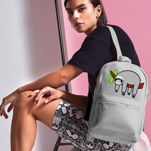 'Grey Sloth' Mini Backpack