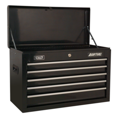 Topchest 5 Drawer with Ball-Bearing Slides - Black - Sealey - AP225B