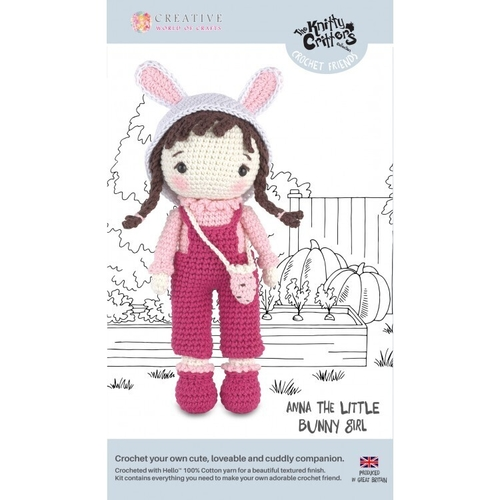 Knitty Critters - Crochet Friends - Anna The Little Bunny Girl