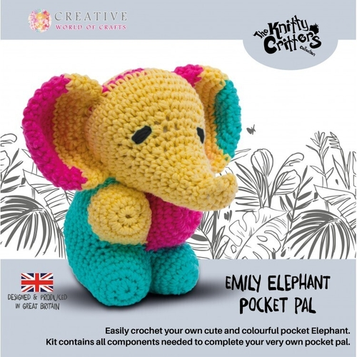 Knitty Critters - Pocket Pals - Emily Elephant