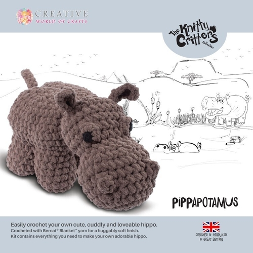 Knitty Critters - Hippo - Pippapotamus