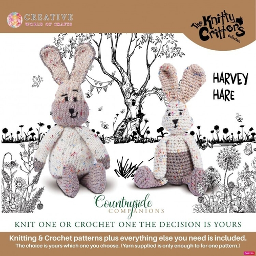 Knitty Critters - Countryside Companions - Harvey Hare