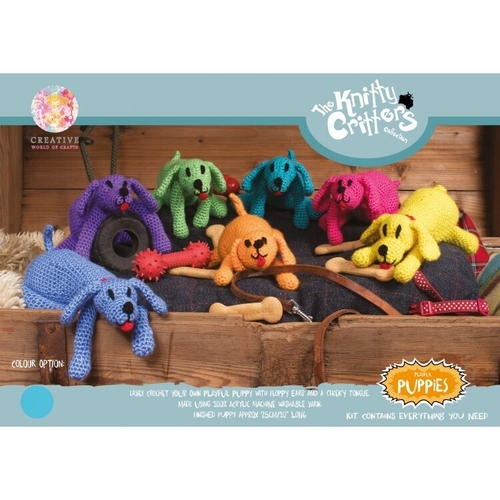 Knitty Critters - Playful Puppies