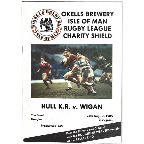 1985 Hulll Kingston Rovers v Wigan Rugby League Charity Shield Programme