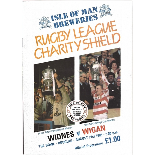 1988 Widnes v Wigan Rugby League Charity Shield Programme
