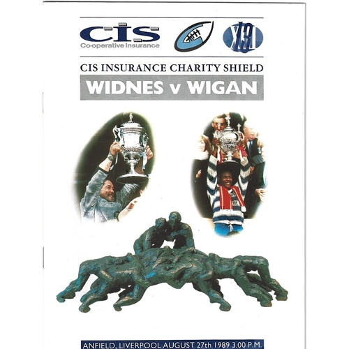 1989 Widnes v Wigan Rugby League Charity Shield Programme