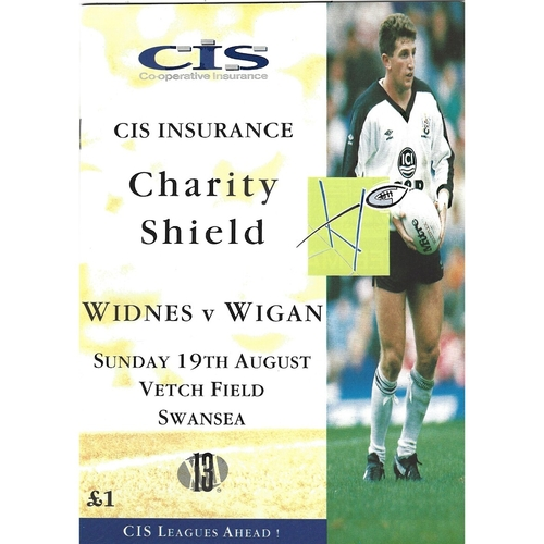 1990 Widnes v Wigan Rugby League Charity Shield Programme
