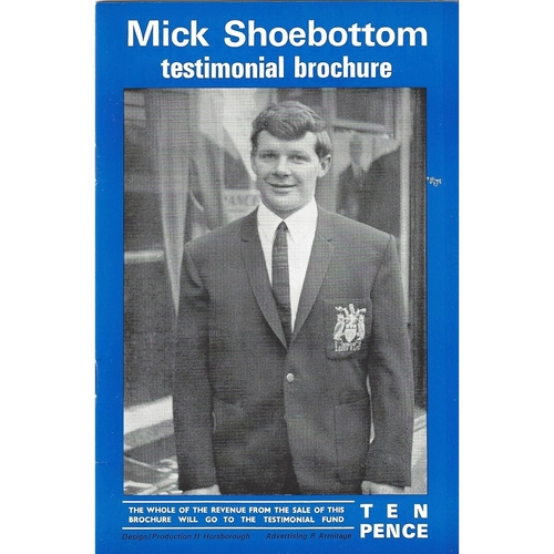 1972 Mick Shoebottom Testimonial Brochure