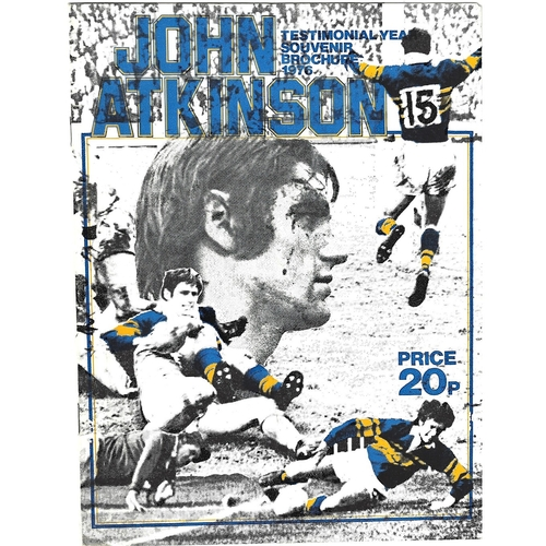 Rugby League Testimonial Programmes/Memorabilia