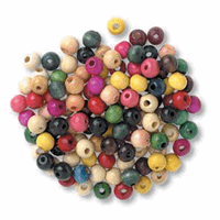 Beads: Wooden: 8mm: Assorted: 100
